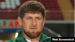 Ramzan Kadyrov prior to the March 17 soccer match