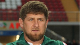 Ramzan Kadyrov prior to the March 17 soccer match