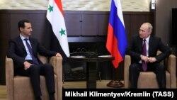 Встреча Владимира Путина и Башара Асада в Сочи. 17 мая 2018 года