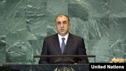 Էլմար Մամեդյարովը ելույթ է ունենում ՄԱԿ-ի Գլխավոր ասամբլեայում, 27 սեպտեմբերի, 2009