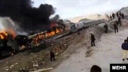 برخورد دو قطار در استان سمنان