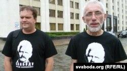 Аляксей Колчын (зьлева) і Барыс Бухель (справа)