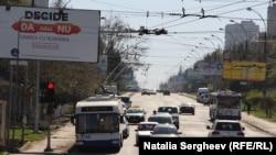 Pe străzile din Chişinău