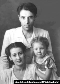 Шамиль Алядин с женой Фатьмой и дочерью Дилярой