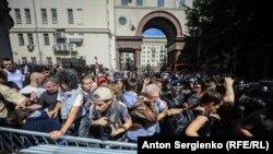 Ռուսաստան - Հուլիսի 27-ի բողոքի ակցիան Մոսկվայում, 27-ը հուլիսի, 2019 թ.