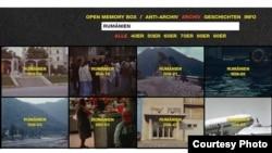 """România în """"Memory Box"""" (screenshot)"""