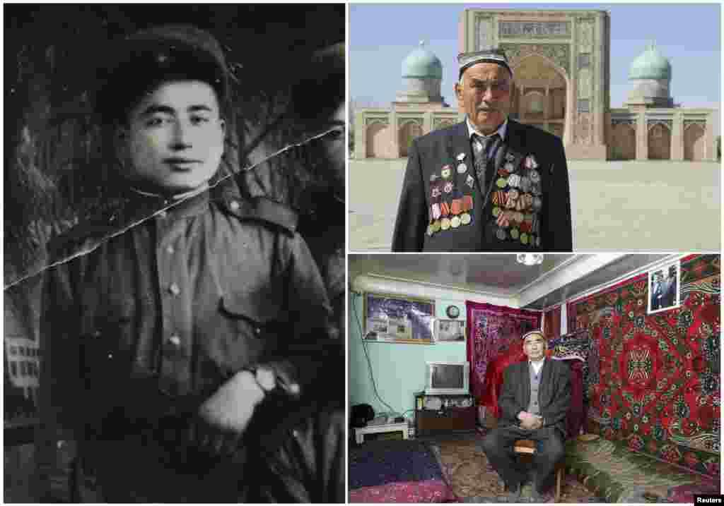 Узокбой Ахраев, 91 год. Узбек, офицер артиллерии Красной Армии с января 1943 по май 1950 года. Участвовал в штурме Берлина.