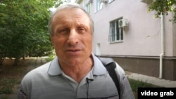 A screen grab of Mykola Semena, who spoke to Current Time TV after the verdict was handed down.