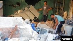 Prostoije hitne pomoći, nakon vazdušnog napada, Sirija, 6. avgust 2016.