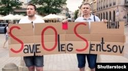 Акция в поддержку Олега Сенцова в Кракове, 2 июня 2018 год
