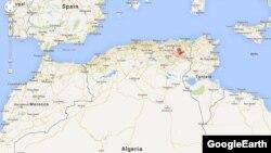 Приблизне місце катастрофи на мапі