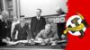იოსებ სტალინისა და იოახიმ ფონ რიბენტროპის შეხვედრა. მოსკოვი, 1939 წ. 23 აგვისტო.