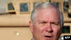 U.S. Defense Secretary Robert Gates during a visit to Kandahar, Afghanistan, on December 11