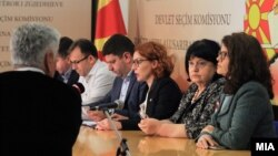 Konferencë për media e Komisionit Shtetëror të Zgjedhjeve, fotografi nga arkivi