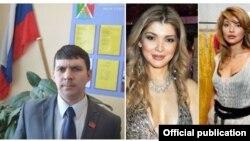 На фото: депутат из Хабаровска Евгений Смолькин (слева) и старшая дочь первого президента Узбекистана Гульнара Каримова.