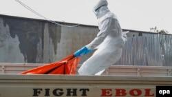 Либериядағы Эбола вирусымен күрес шаралары. 13 қазан 2014 жыл.