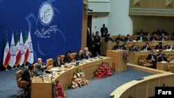 The Non-Aligned Summit ended with a declaration backing Iran's right to nuclear power.