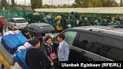 На казахско-кыргызской границе, 18 октября 2017 года.