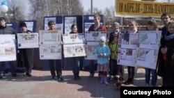 Митинг в защиту томского деревянного зодчества, 2015 год