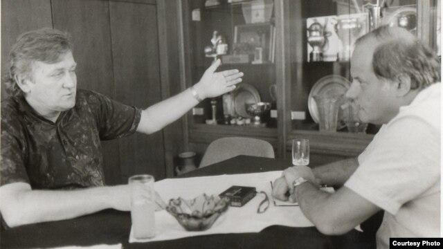 Ivica Osim sa Kemalom Kurspahićem 1990. godine