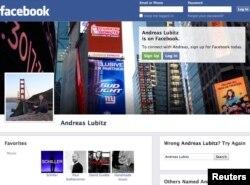 Snimak u međuvremenu obrisane Facebook stranice Andreasa Lubitza