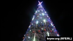 Ukraine, Crimea - New Year tree fest in Kerch, 27Dec2014