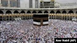 Myslimanët në Mekë.