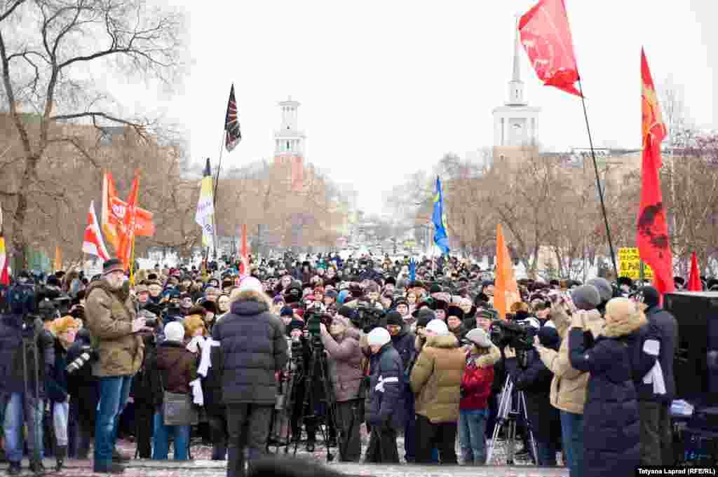 Russia -- Krasnoyarsk, miting 24.12.11