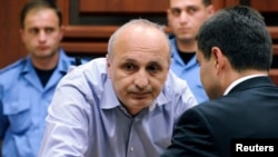 Vano Merabishvili in court in Kutaisi on May 22
