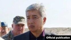 Министр обороны Казахстана Имангали Тасмагамбетов (на переднем плане).