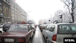 Taksi vozila u centru Beograda, foto Vesna Anđić