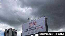 """Уфимские правозащитники в этот же день разместили на улицах города билборды с выдержками из отчета """"Левады-центра"""""""