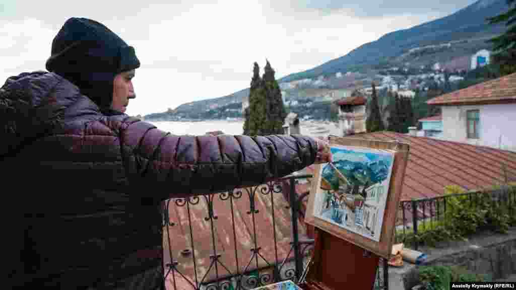 Похмурий настрій весняного Гурзуфа залишиться на полотні місцевого художника