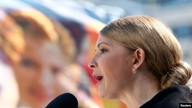 Former Prime Minister and presidential candidate Yulia Tymoshenko has said she is not officially campaigning.