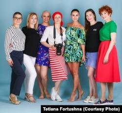 Учасниці проекту «Безстрашна краса» та фотограф Тетяна Круковець