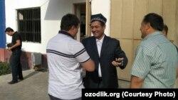 Имам Хикматулла Юсупов после окончания суда. Ташкент, 13 сентября 2018 года.