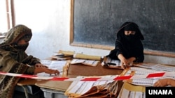 Vote counting in Nangarhar Province on August 24