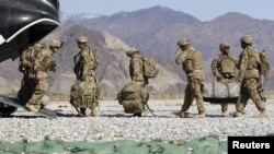 Ushtria amerikane në Afganistan...