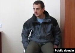 Сергій Іванчук під час допиту бойовиків угруповання «ЛНР»
