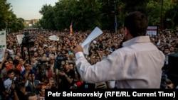 Акция протеста на проспекте Баграмяна в Ереване, 28 июня 2015 г.