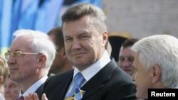 Віктор Янукович під час святкування Дня незалежності у Києві