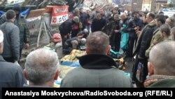 Тіла загиблих на барикаді на Хрещатику, 20 лютого 2014 року