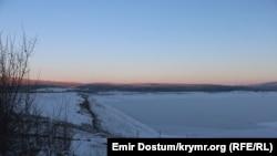У Криму аномальні морози – Сімферопольське водосховище замерзло