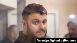 Oleksandr Avakov, the son of Ukrainian Interior Minister Arsen Avakov, at his Kyiv court hearing on November 1.
