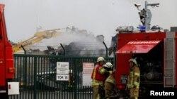 Пожежники на місці вибуху