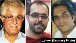 Pastor Victor Bet Tamraz (left to right), Amin Afshar Naderi, and Hadi Asgari were sentenced to between 10 and 15 years in prison in July 2017. (combo photo)