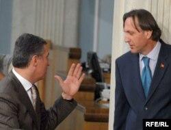 Lideri DPS-a i SDP-a Milo Đukanović i Ranko Krivokapić