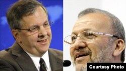 منوچهر متکی، وزیر امور خارجه ایران (راست) و ایان کلی، سخنگوی وزارت امور خارجه آمریکا