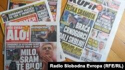 "Na naslovnicama srpskih tabloida priče o ""crnogorskoj izdaji"""