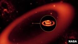 Сатурндун космостон көрүнүшү.
